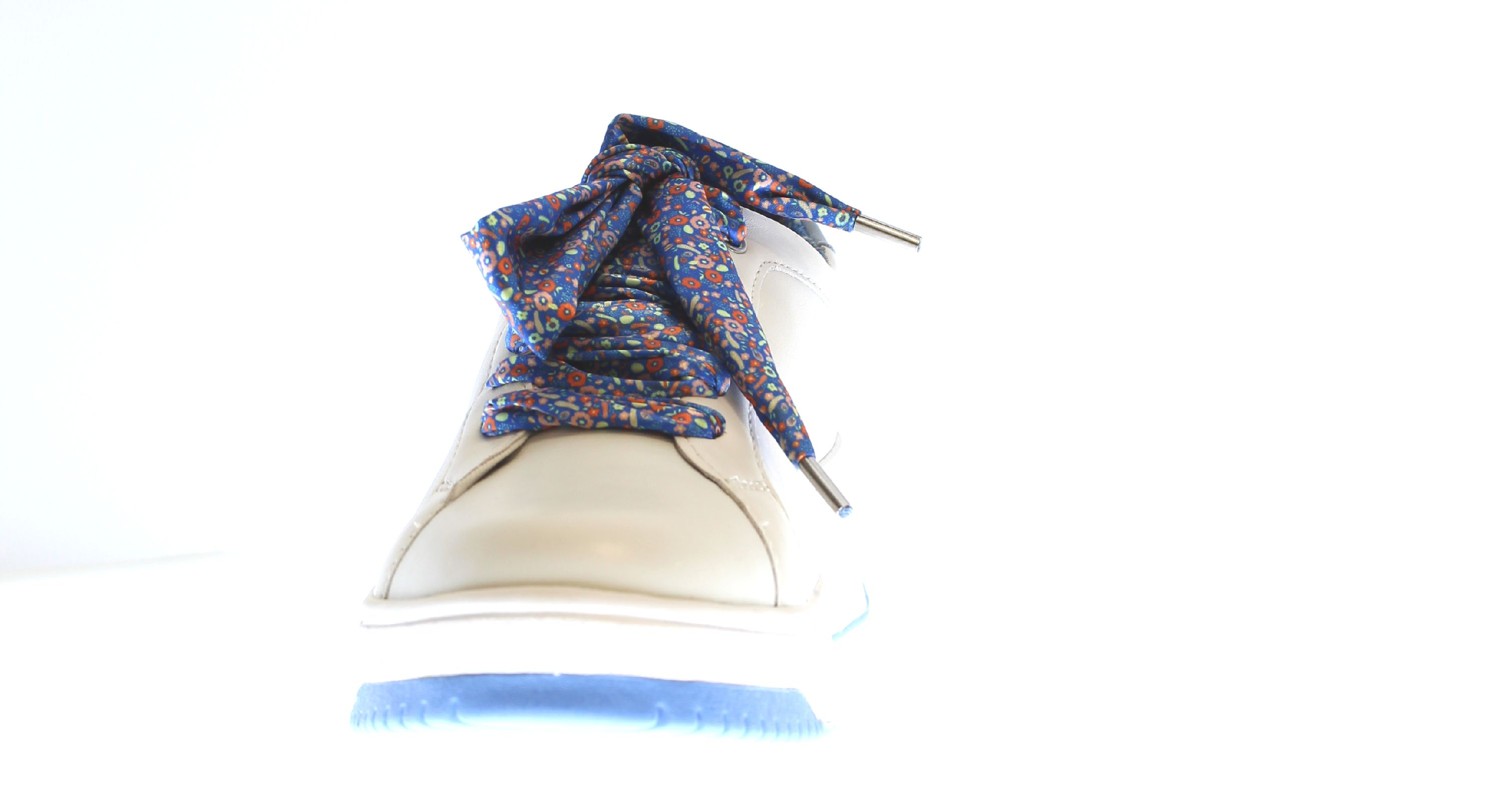 SNEAKERS WITH LACES WOMAN APEPAZZA FEBOS S0BASKET04 WHITE AND LIGHT BLUE LEATHER